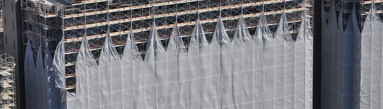 プラント・オフィスビル・ホテル、集合住宅などの大規模修繕工事もお任せ下さい!耐震補強工事も行います。