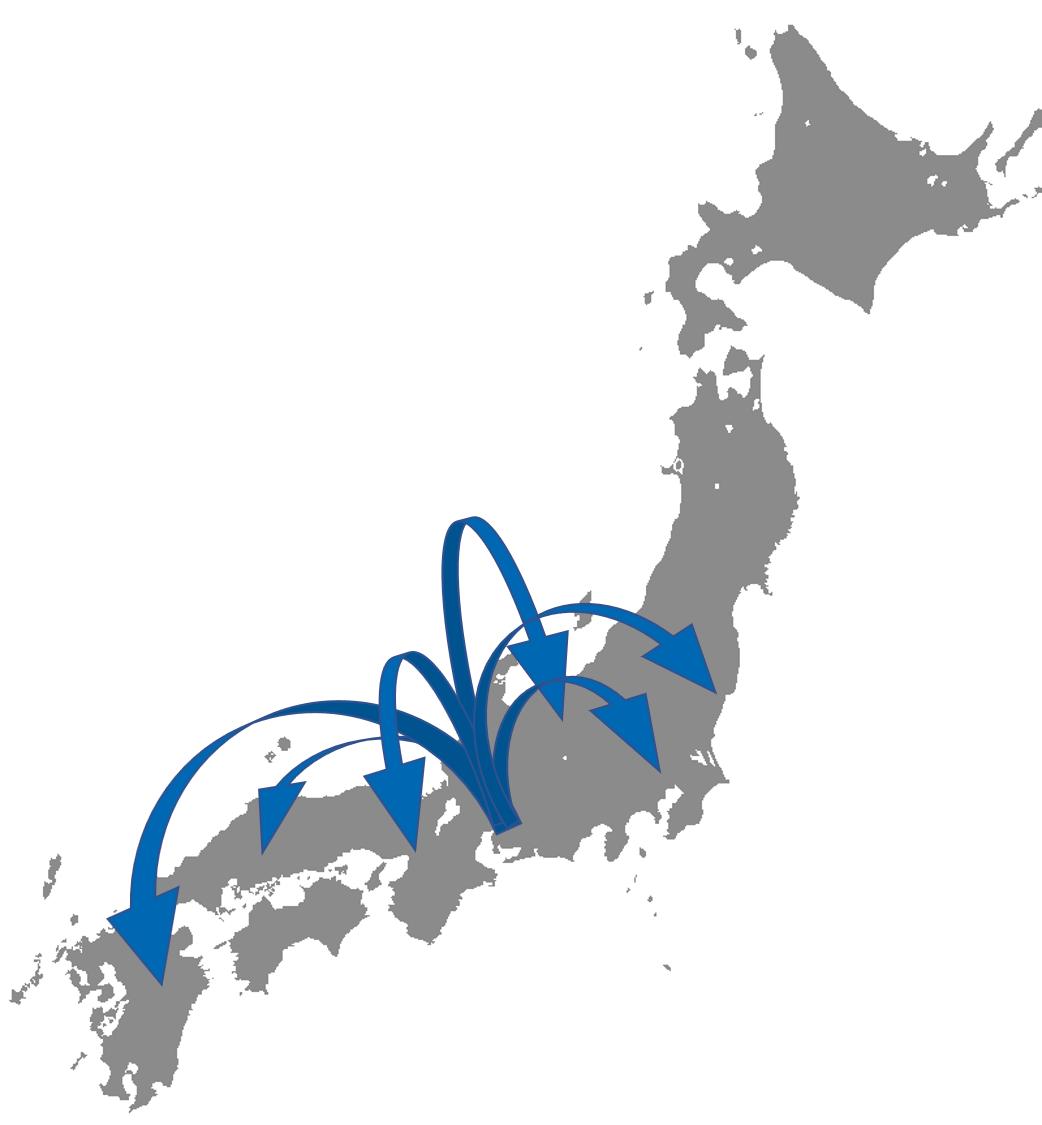 関東から沖縄まで対応致します!